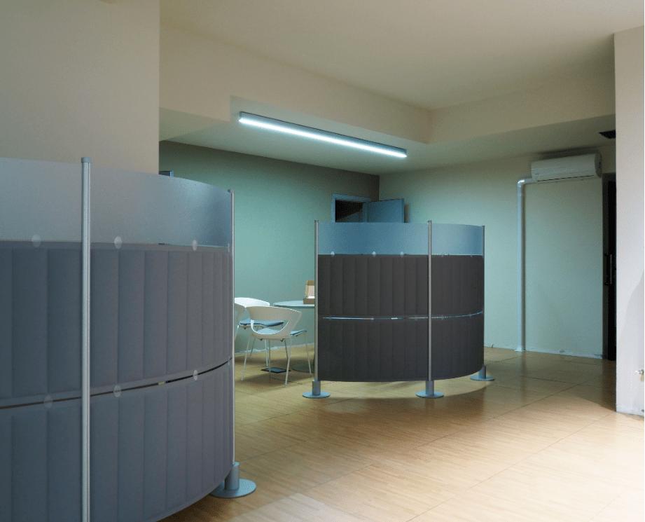 ufficio sanificato con led uv