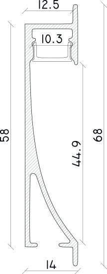 misure profilo led a parete growi