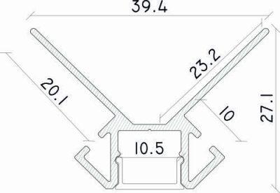 misure profilo led calpestabile boras