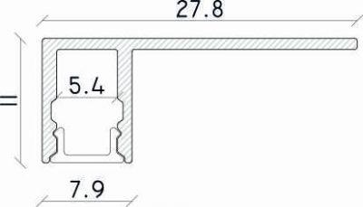 misure profilo led calpestabile plat 130