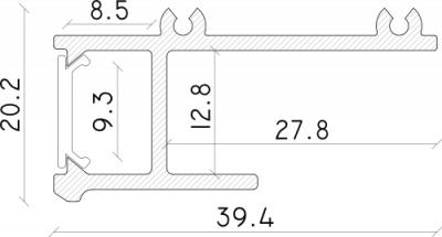 misure profilo led da incasso laser