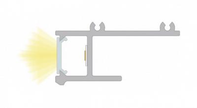 sezione profilo led da incasso laser