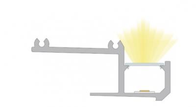 sezione profilo led da incasso linus